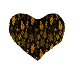 Christmas Background Standard 16  Premium Flano Heart Shape Cushions Front