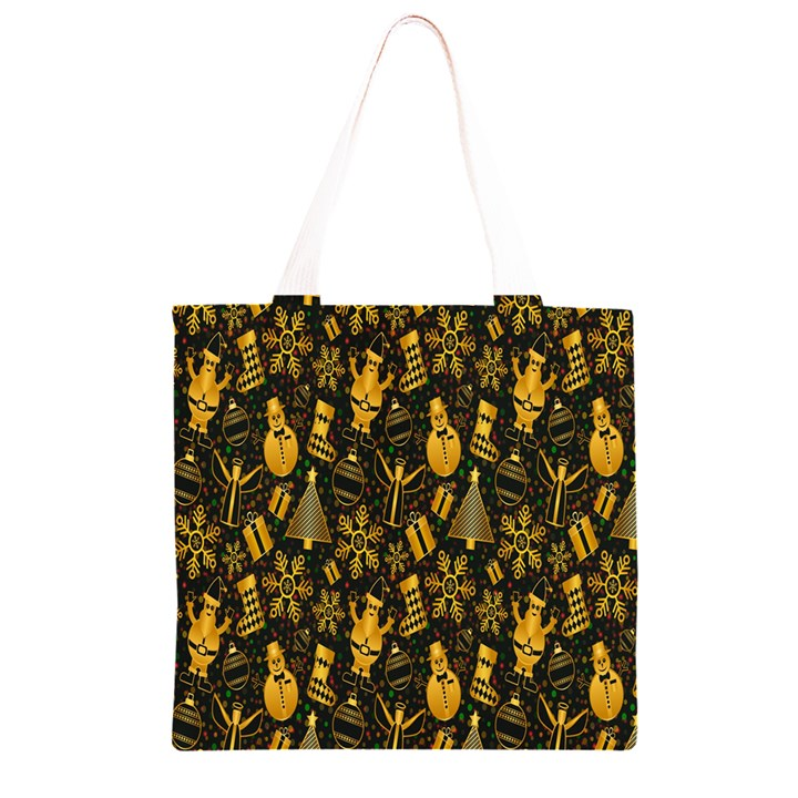 Christmas Background Grocery Light Tote Bag