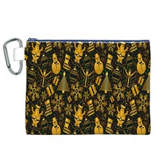 Christmas Background Canvas Cosmetic Bag (XL)