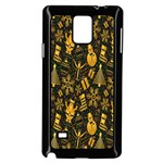 Christmas Background Samsung Galaxy Note 4 Case (Black) Front