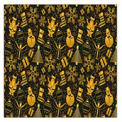 Christmas Background Large Satin Scarf (Square)