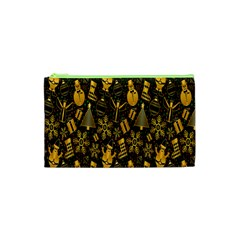Christmas Background Cosmetic Bag (XS)
