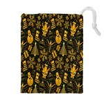 Christmas Background Drawstring Pouches (Extra Large) Front
