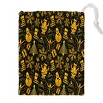 Christmas Background Drawstring Pouches (XXL) Front