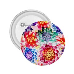 Colorful Succulents 2.25  Buttons