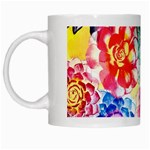 Colorful Succulents White Mugs Left