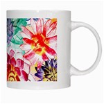 Colorful Succulents White Mugs Right