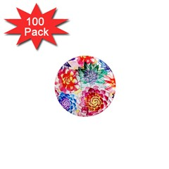 Colorful Succulents 1  Mini Magnets (100 pack)