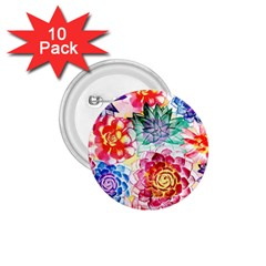 Colorful Succulents 1 75  Buttons (10 Pack)