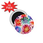 Colorful Succulents 1.75  Magnets (10 pack)  Front