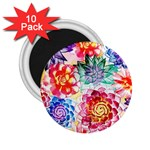 Colorful Succulents 2.25  Magnets (10 pack)  Front