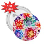 Colorful Succulents 2.25  Buttons (100 pack)  Front