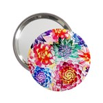 Colorful Succulents 2.25  Handbag Mirrors Front