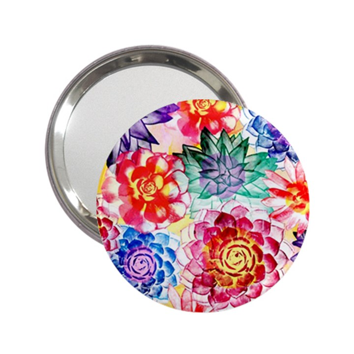 Colorful Succulents 2.25  Handbag Mirrors