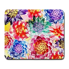 Colorful Succulents Large Mousepads