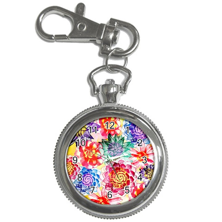 Colorful Succulents Key Chain Watches