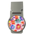 Colorful Succulents Money Clips (Round)  Front