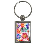 Colorful Succulents Key Chains (Rectangle)  Front