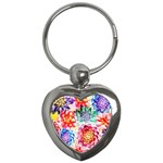 Colorful Succulents Key Chains (Heart)  Front