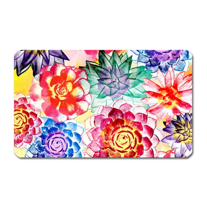 Colorful Succulents Magnet (Rectangular)