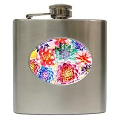 Colorful Succulents Hip Flask (6 Oz)