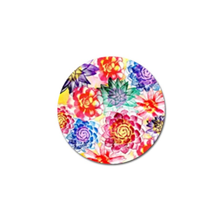 Colorful Succulents Golf Ball Marker