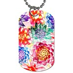 Colorful Succulents Dog Tag (Two Sides) Front