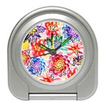Colorful Succulents Travel Alarm Clocks Front