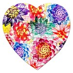Colorful Succulents Jigsaw Puzzle (Heart) Front