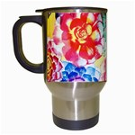 Colorful Succulents Travel Mugs (White) Left