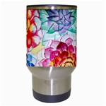 Colorful Succulents Travel Mugs (White) Center