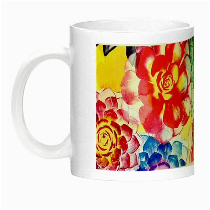 Colorful Succulents Night Luminous Mugs