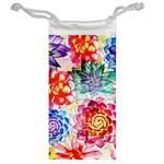 Colorful Succulents Jewelry Bags Back