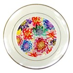 Colorful Succulents Porcelain Plates Front