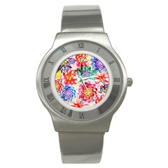 Colorful Succulents Stainless Steel Watch