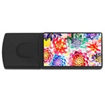 Colorful Succulents USB Flash Drive Rectangular (4 GB)  Front