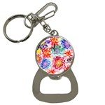 Colorful Succulents Bottle Opener Key Chains Front