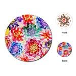 Colorful Succulents Playing Cards (Round)  Front