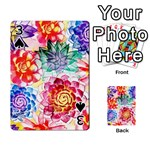 Colorful Succulents Playing Cards 54 Designs  Front - Spade3