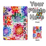 Colorful Succulents Playing Cards 54 Designs  Front - Joker1
