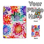 Colorful Succulents Playing Cards 54 Designs  Back