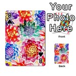 Colorful Succulents Playing Cards 54 Designs  Front - Spade8