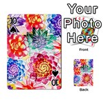 Colorful Succulents Playing Cards 54 Designs  Front - Spade10