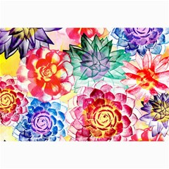 Colorful Succulents Collage Prints