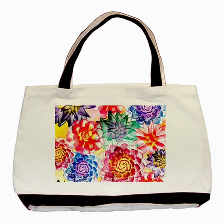 Colorful Succulents Basic Tote Bag