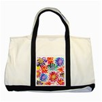 Colorful Succulents Two Tone Tote Bag Front