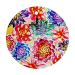 Colorful Succulents Round Ornament (Two Sides)  Front