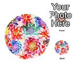 Colorful Succulents Playing Cards 54 (Round)  Front - Heart4