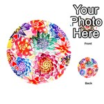 Colorful Succulents Playing Cards 54 (Round)  Front - Heart6
