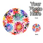 Colorful Succulents Playing Cards 54 (Round)  Front - Spade6